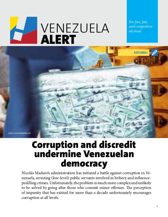 1 VENEZUELA ALERT For free, fair, and competitive elections VENEZUELA ALERT For free, fair, and competitive elections Nico...