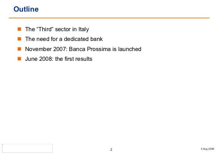 Banca Prossima - Alessandra Dalcolle Slide 2