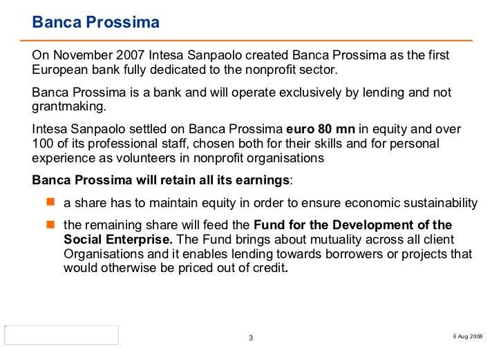 Banca Prossima - Alessandra Dalcolle Slide 3