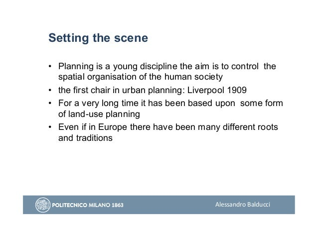 Alessandro Balducci - Planning as a Trading Zone Slide 3