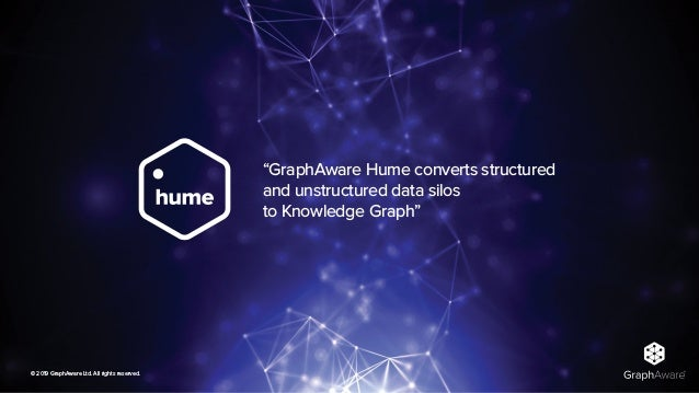 """© 2019 GraphAware Ltd. All rights reserved. """"GraphAware Hume converts structured and unstructured data silos to Knowledge..."""