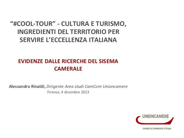 """#COOL-‐TOUR""  -‐  CULTURA  E  TURISMO,   INGREDIENTI  D..."