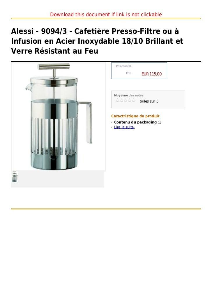 alessi 9094 3 cafeti re presso filtre ou infusion en. Black Bedroom Furniture Sets. Home Design Ideas