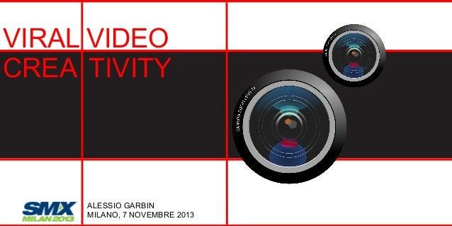 VIRAL VIDEO CREA TIVITY  ALESSIO GARBIN MILANO, 7 NOVEMBRE 2013