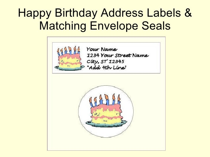 address labels envelope seals