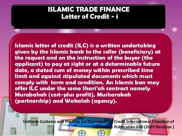 3 ISLAMIC TRADE FINANCE Letter Of Credit