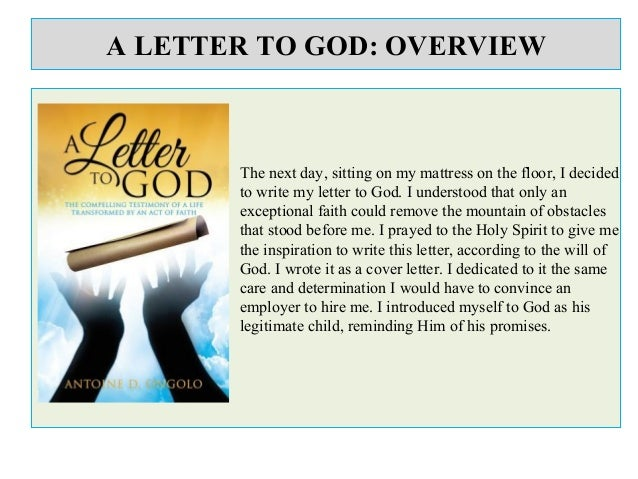 A letter to god: Summary