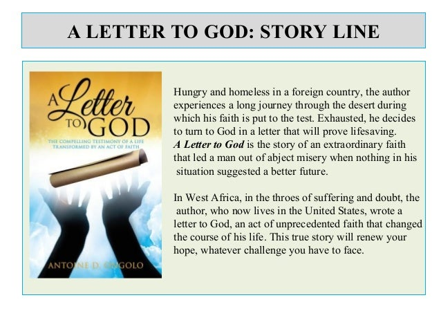A letter to god Summary