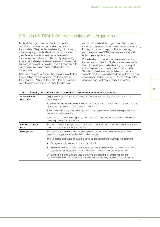 synoptic essays for AQA A2 biology unit 5