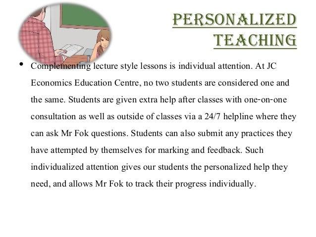 A Level Economics Tuition Slide 3