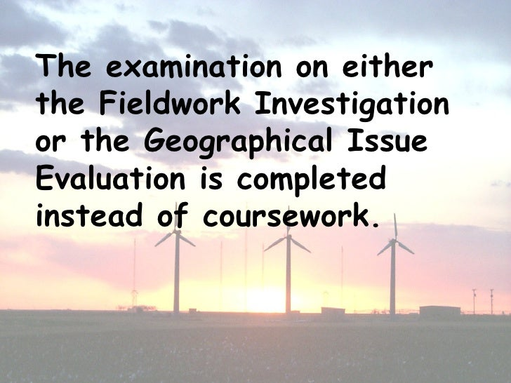 A2 geography coursework
