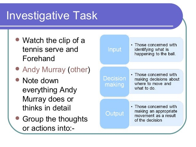 investigavtive task
