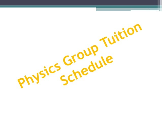 JC 2 (Year 2017) Physics Tuition