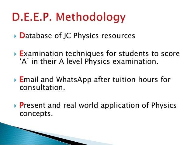 A Level Physics Tutor Slide 3