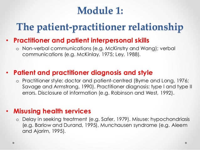 psychologist and patient relationship code