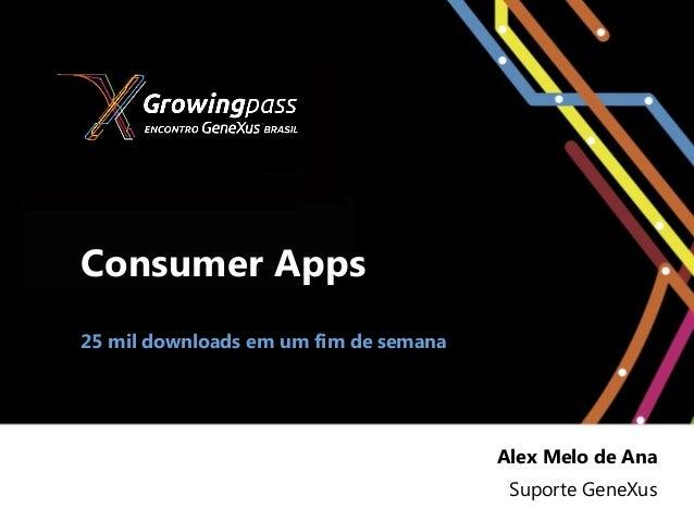 Consumer Apps25 mil downloads em um fim de semana                                       Alex Melo de Ana                  ...