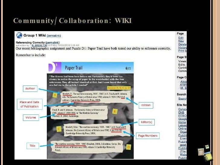 Community/Collaboration: WIKI