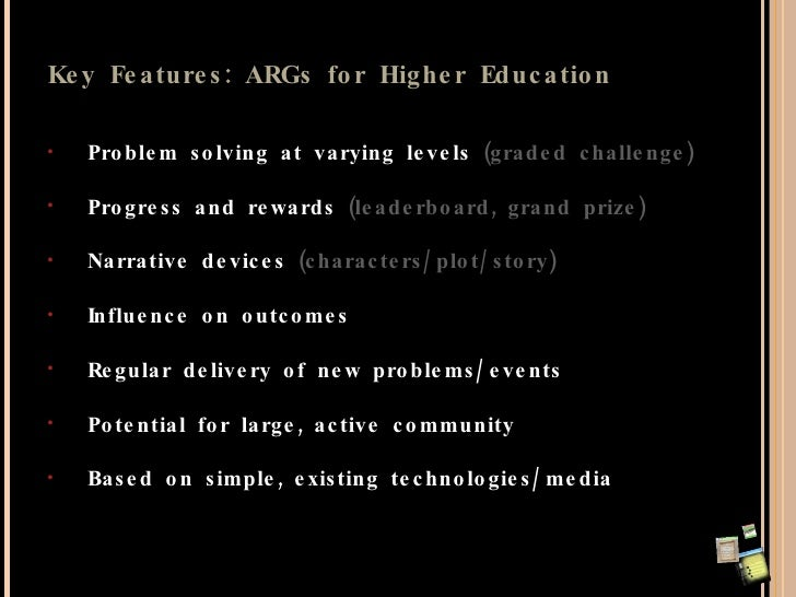 Alex Moseley   ARGs In Charity And Education Slide 2
