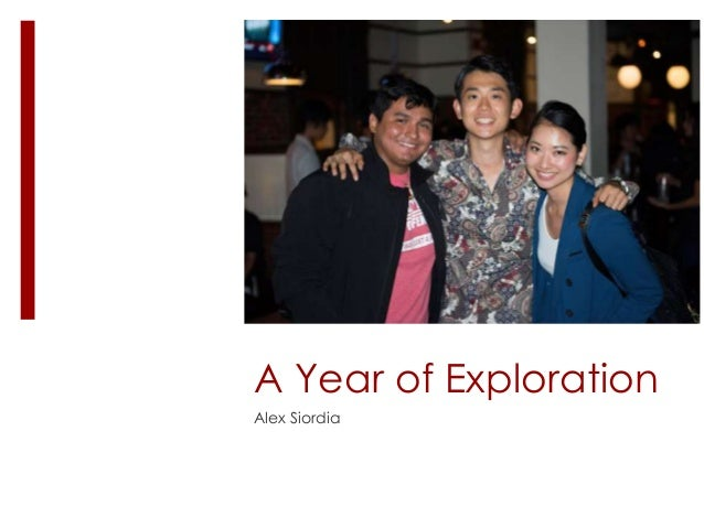 A Year of Exploration Alex Siordia