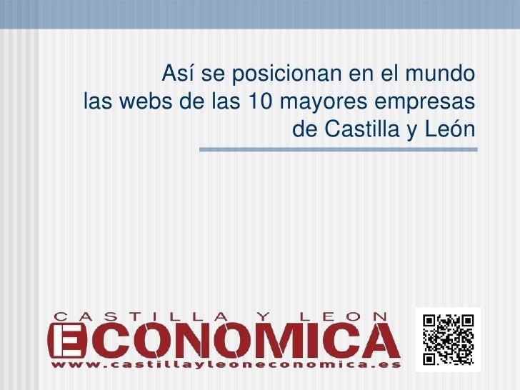 Así se posicionan en el mundolas webs de las 10 mayores empresas                    de Castilla y León