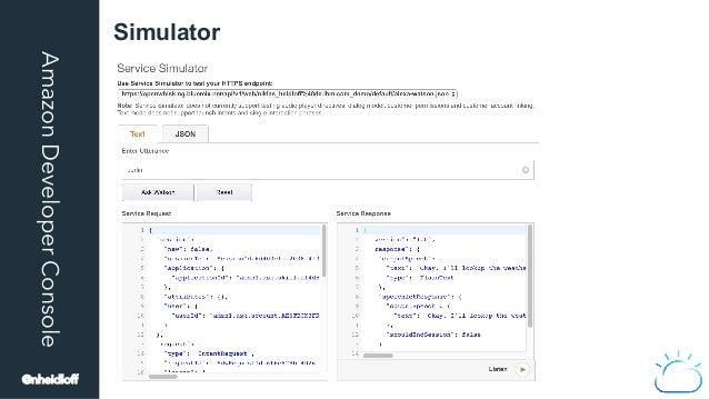 AmazonDeveloperConsole Simulator @nheidloff