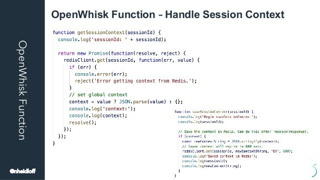 OpenWhiskFunction OpenWhisk Function – Handle Session Context @nheidloff
