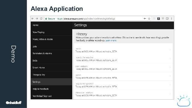 Demo Alexa Application @nheidloff