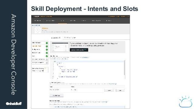 AmazonDeveloperConsole Skill Deployment – Intents and Slots @nheidloff