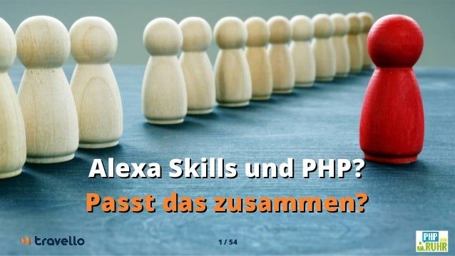 1 / 54 Alexa Skills und PHP?Alexa Skills und PHP? Passt das zusammen?Passt das zusammen?