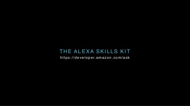 THE ALEXA SKILLS KIT https://developer.amazon.com/ask