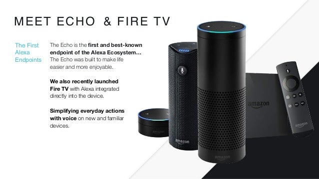 We also recently launched  Fire TV with Alexa integrated  directly into the device. Simplifying everyday actions with vo...