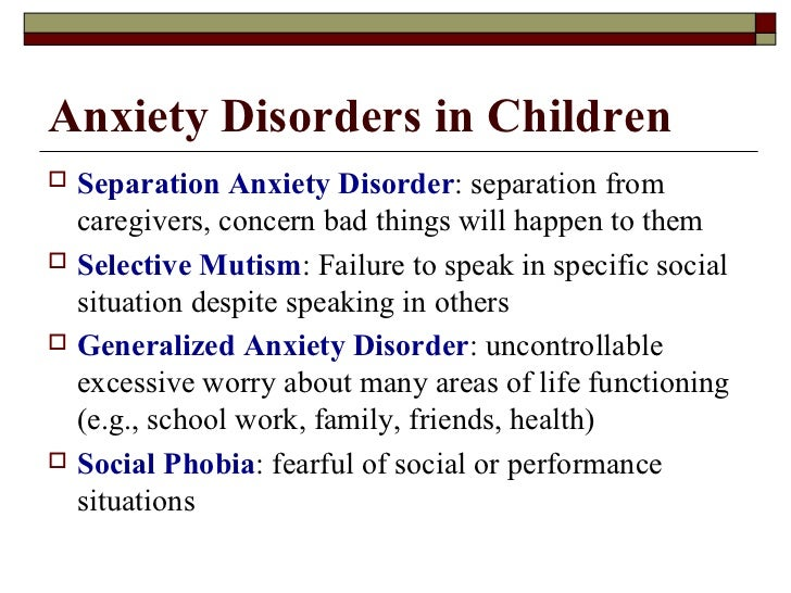 a study on the treatments of generalized anxiety disorder in children and adolescents Three effective treatments for childhood anxiety  affecting children and adolescents untreated anxiety can  anxiety disorder, generalized.