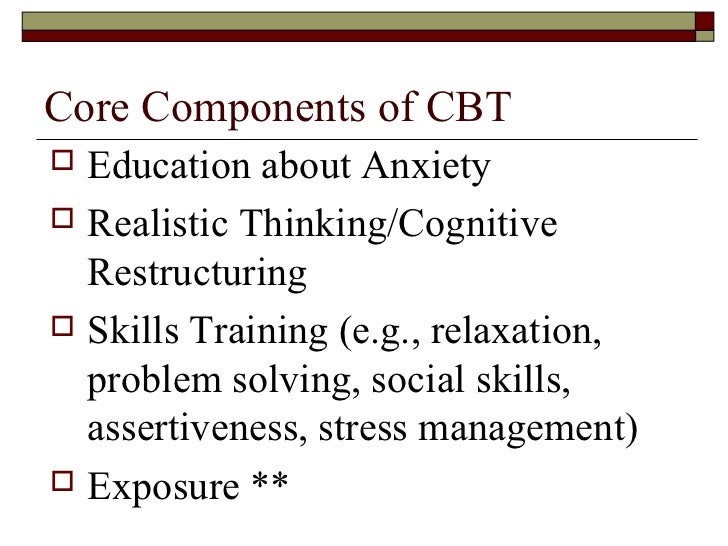 ... study hopeful; 28. Behavioural Strategies  Coping skills  Exposure to  anxiety ...