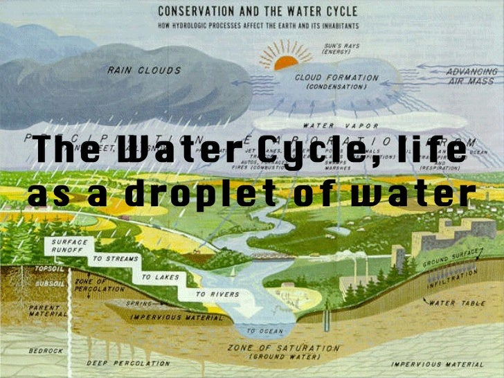 The Water Cycle, life as a droplet of water