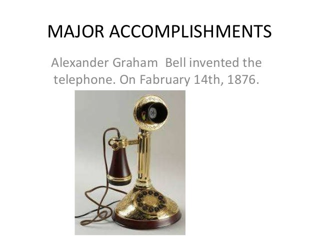 alexander graham bell major accomplishments