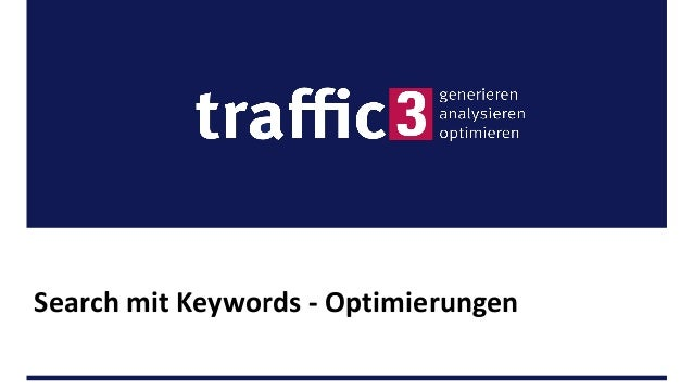 Search mit Keywords - Optimierungen