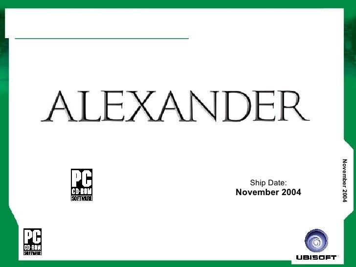 Ship Date: November 2004
