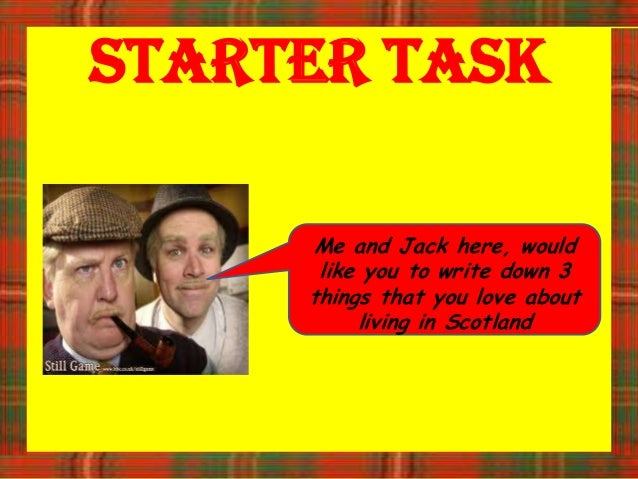Starter Task     Me and Jack here, would      like you to write down 3     things that you love about          living in S...