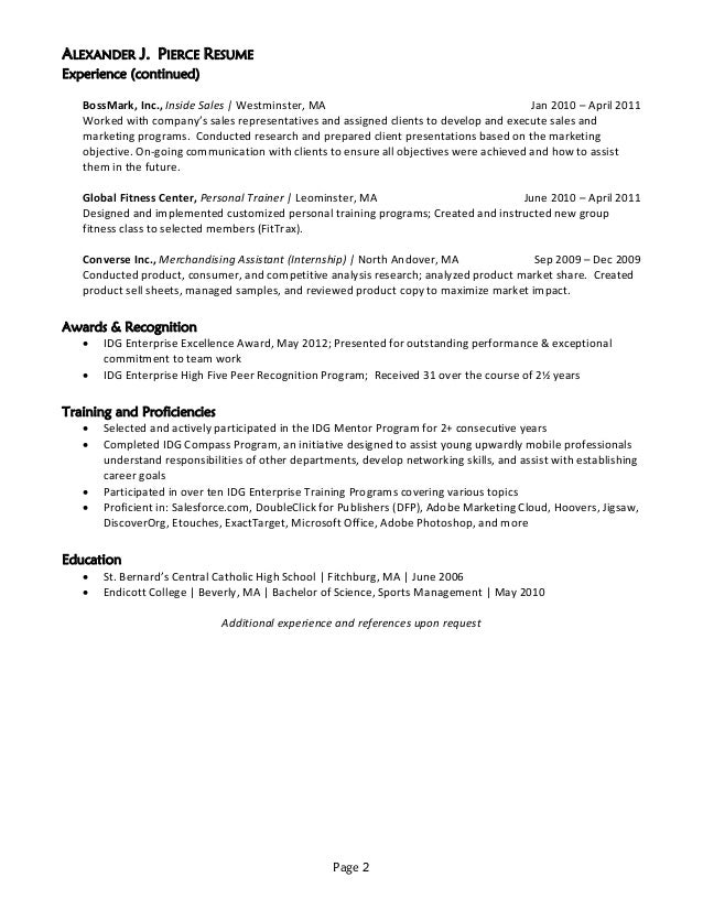 Cover Letter Advertising Sales Manager  Inside Sales Resume