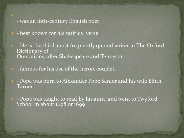 pope essay on man