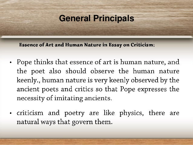 alexander pope and essay on criticism thank you instructor thank you colleagues