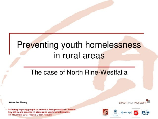 Preventing youth homelessness in rural areas  The case of North Rine-Westfalia  Investing in young people to prevent a los...