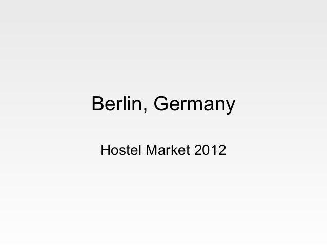 Berlin, GermanyHostel Market 2012