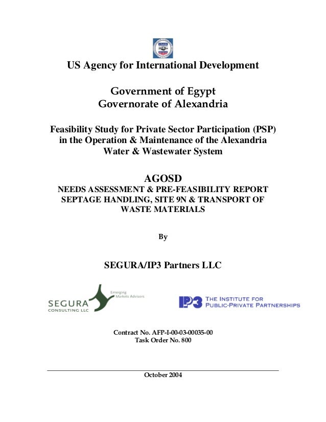 US Agency for International Development             Government of Egypt           Governorate of AlexandriaFeasibility Stu...