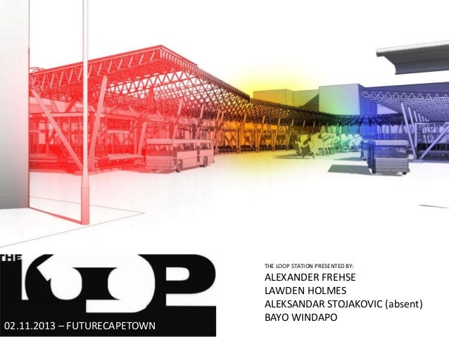 THE LOOP STATION PRESENTED BY:  02.11.2013 – FUTURECAPETOWN  ALEXANDER FREHSE LAWDEN HOLMES ALEKSANDAR STOJAKOVIC (absent)...