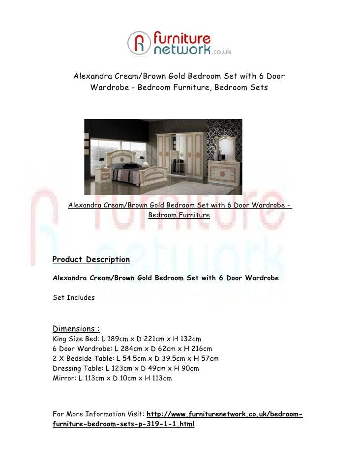 Alexandra cream-brown-gold-bedroom-set-with-6-door-wardrobe ...