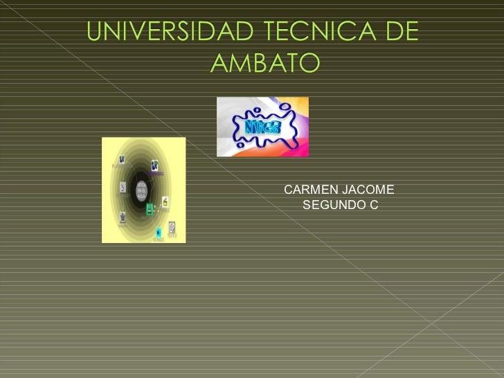 CARMEN JACOME  SEGUNDO C