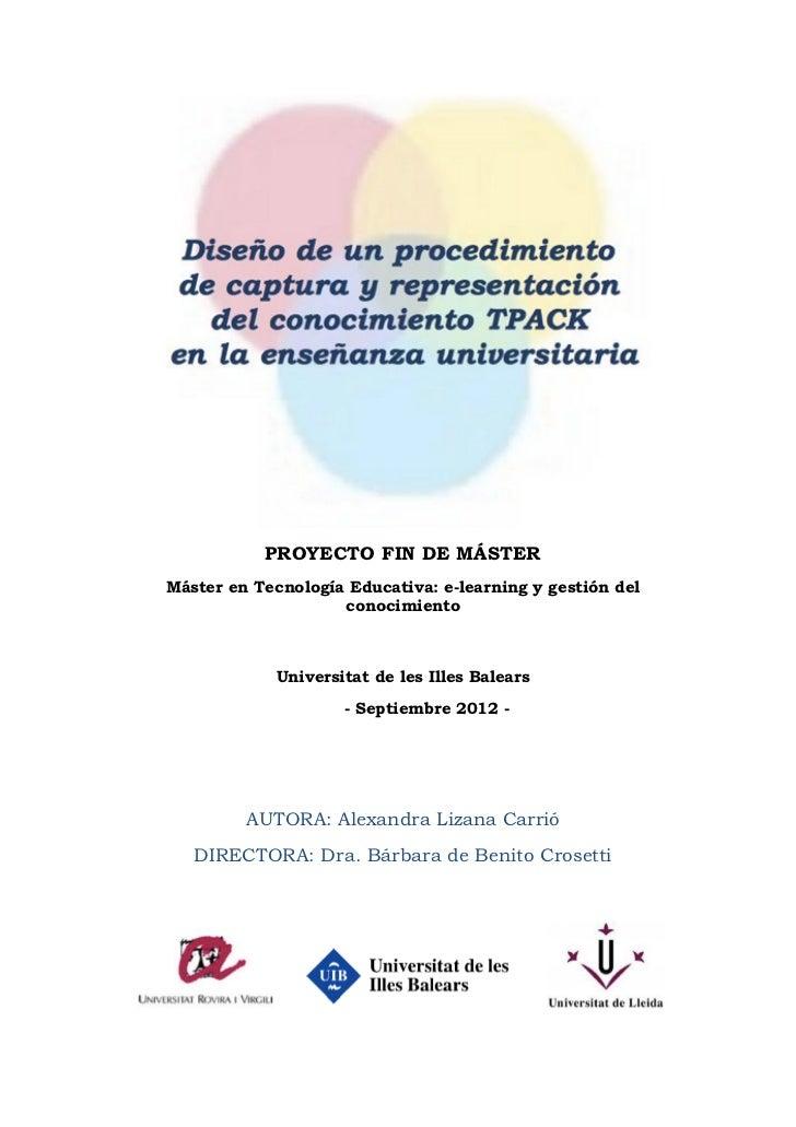 PROYECTO FIN DE MÁSTER       Máster en Tecnología Educativa: e-learning y gestión del                           conocimien...