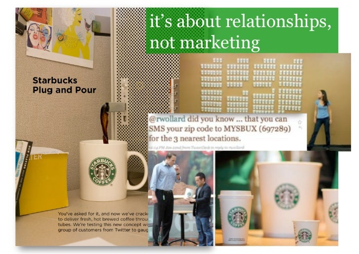 it's about relationships, not marketing