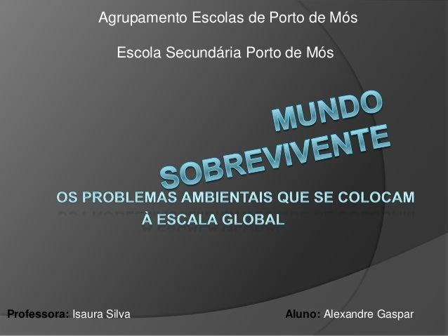 Escola Secundária Porto de MósAgrupamento Escolas de Porto de MósProfessora: Isaura Silva Aluno: Alexandre Gaspar